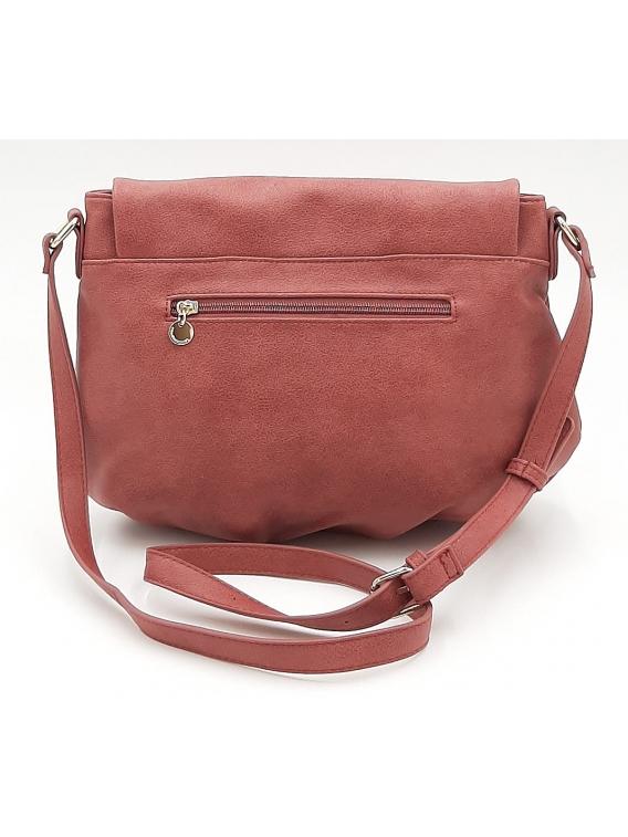 Różowa torebka listonoszka z klapką LULU CASTAGNETTE
