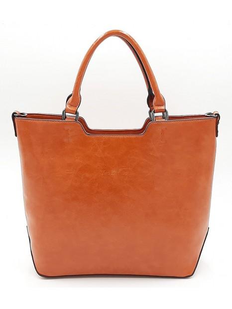 Pomarańczowa klasyczna torebka damska Ines Delaure