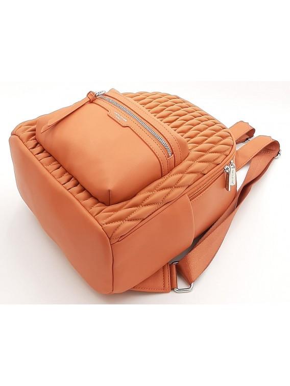 Koralowy pikowany plecak damski DAVID JONES