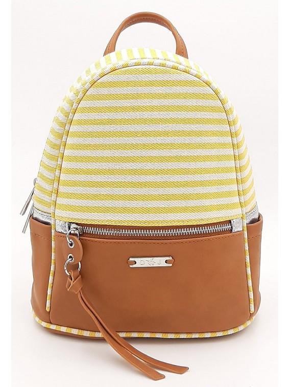 Plecak damski w żółto białe paski DAVID JONES