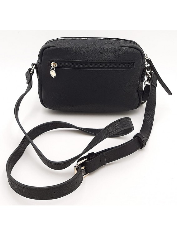 Czarna mała torebka listonoszka z misiem LULU CASTAGNETTE
