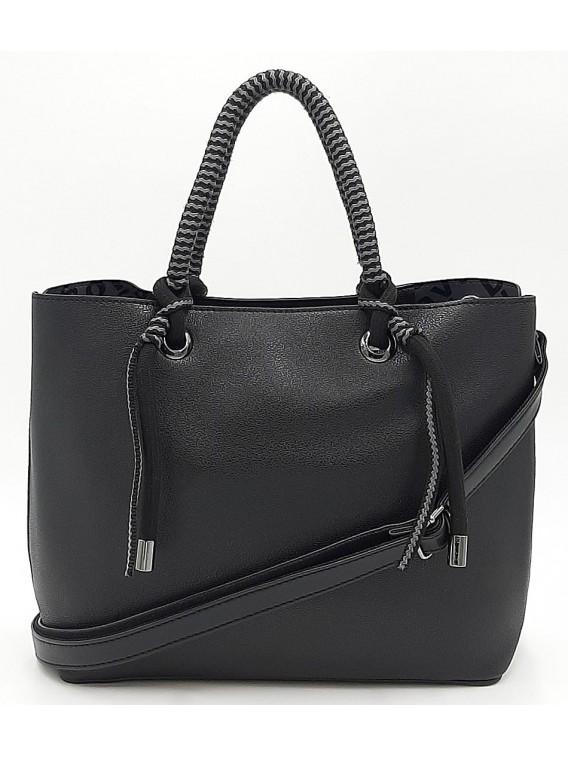 Czarna klasyczna torebka damska DAVID JONES