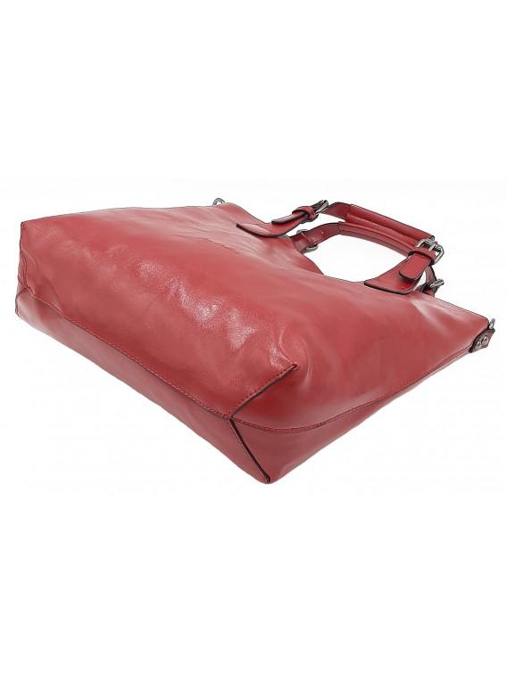 Czerwona klasyczna torebka damska INES DELAURE