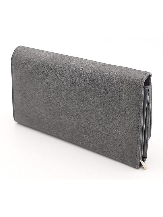 Szary portfel damski z klapką LULU CASTAGNETTE