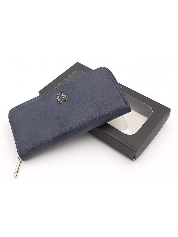 Granatowy portfel damski piórnik LULU CASTAGNETTE
