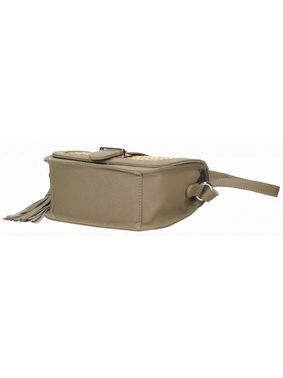 Modna torebka listonoszka z zaplatanym przodem DAVID JONES