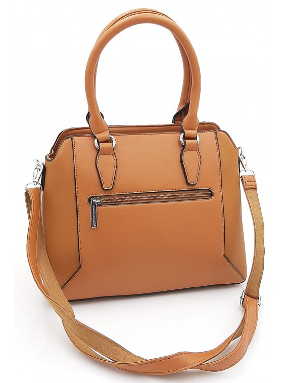 Brązowy kuferek torebka damska DAVID JONES