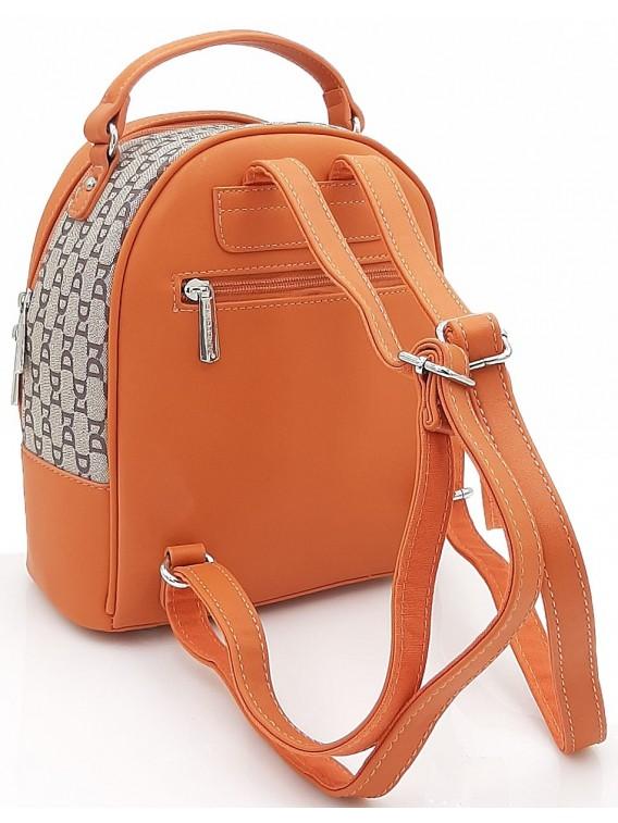 Pomarańczowy plecak damski DAVID JONES