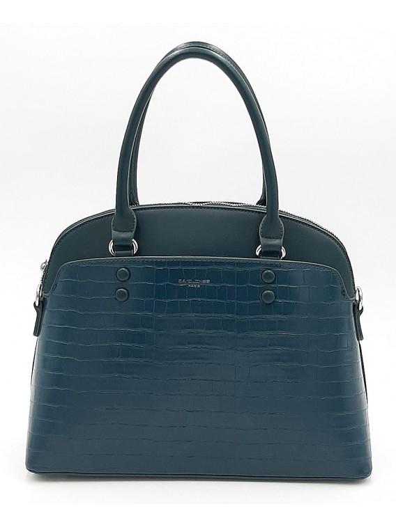 Kuferek torebka damska w kolorze morskim DAVID JONES