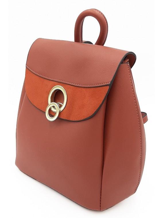 Plecak damski w kolorze ceglanym BESTINI