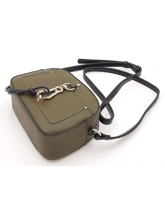 Oliwkowa torebka listonoszka z przywieszką BESTINI