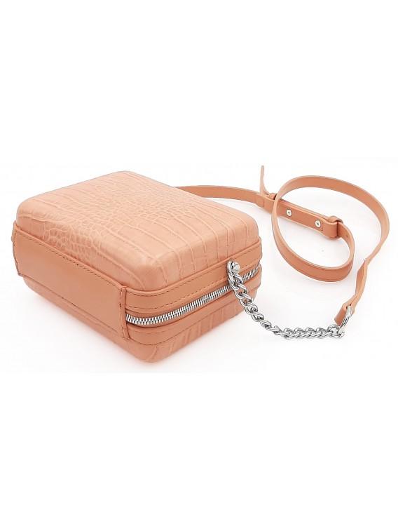 Łososiowa torebka listonoszka pudełko DAVID JONES