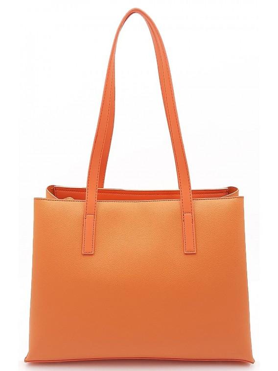 Pomarańczowa klasyczna torebka damska na ramię DAVID JONES