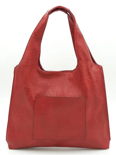 Czerwony worek torebka damska Ines Delaure