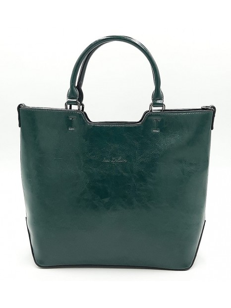 Zielona klasyczna torebka damska Ines Delaure