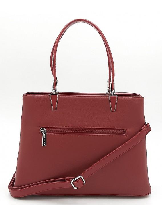 Bordowa klasyczna torebka damska DAVID JONES