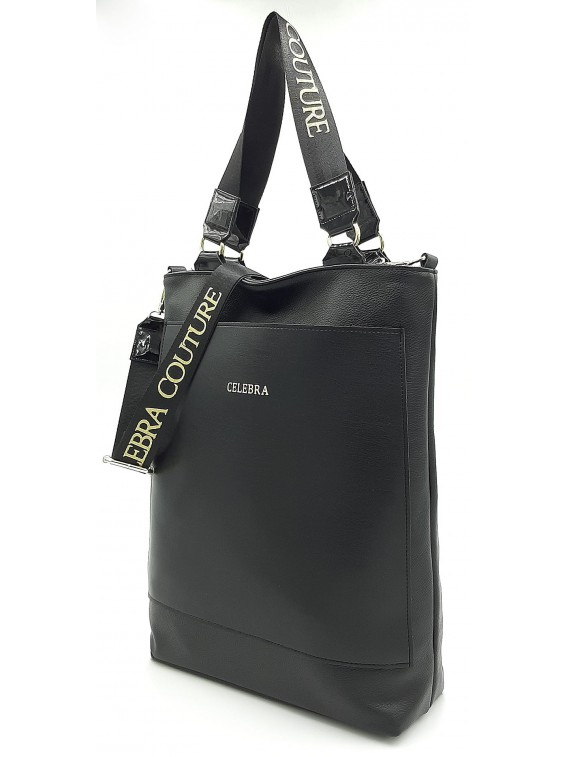 Czarna pojemna torebka damska CELEBRA COUTURE