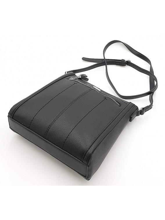 Czarna torebka damska listonoszka DAVID JONES