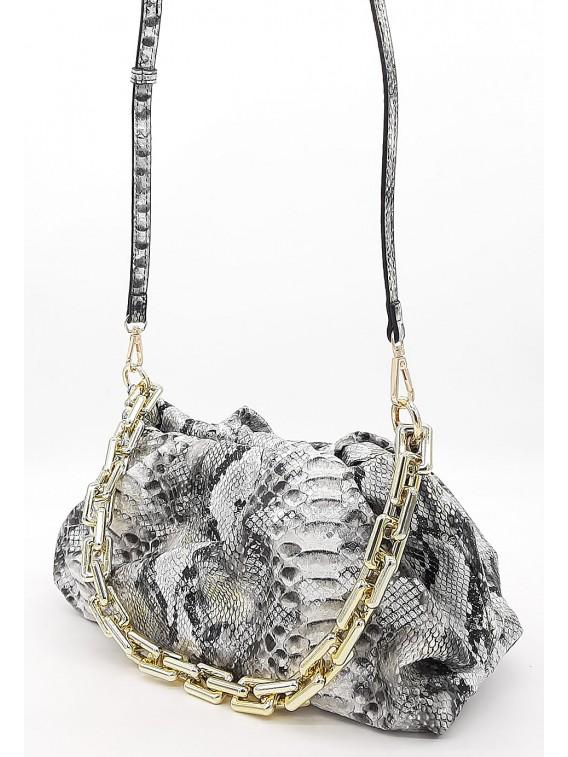 Modna torebka wizytowa ze złotym łańcuchem TOM&EVA