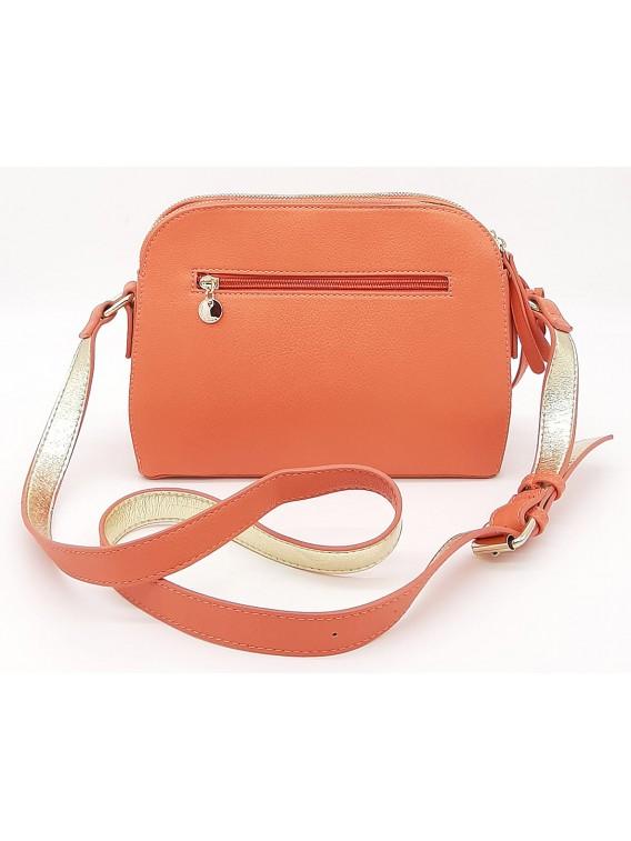 Pomarańczowa ażurowa torebka listonoszka LULU CASTAGNETTE