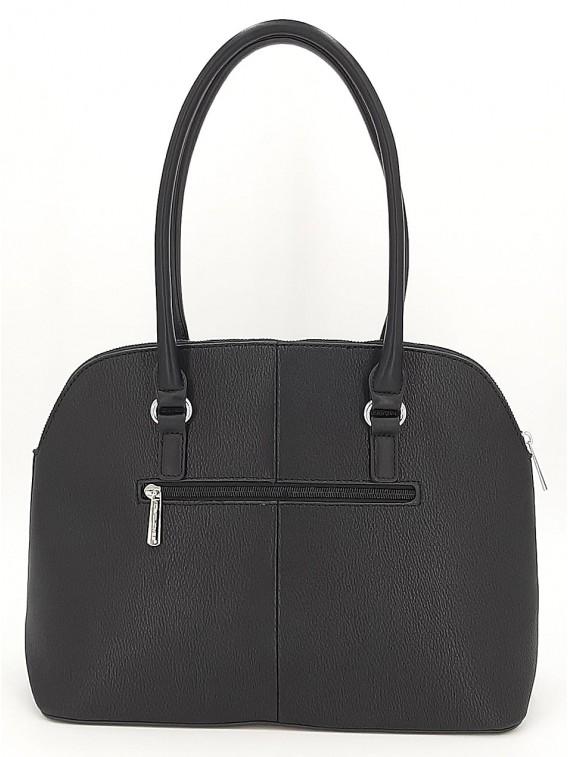 Czarna klasyczna torebka damska na ramię DAVID JONES