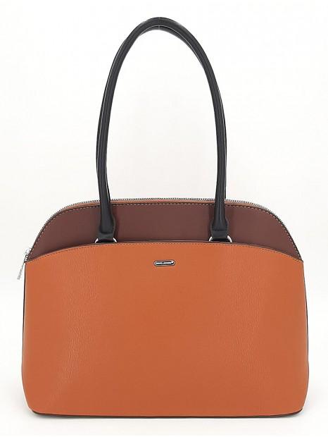 Brązowa klasyczna torebka damska na ramię DAVID JONES