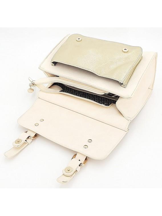 Kremowy kuferek torebka damska LULU CASTAGNETTE