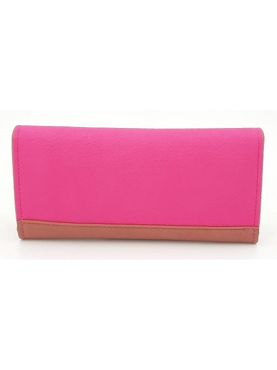 Różowy portfel damski z klapką LULU CASTAGNETTE