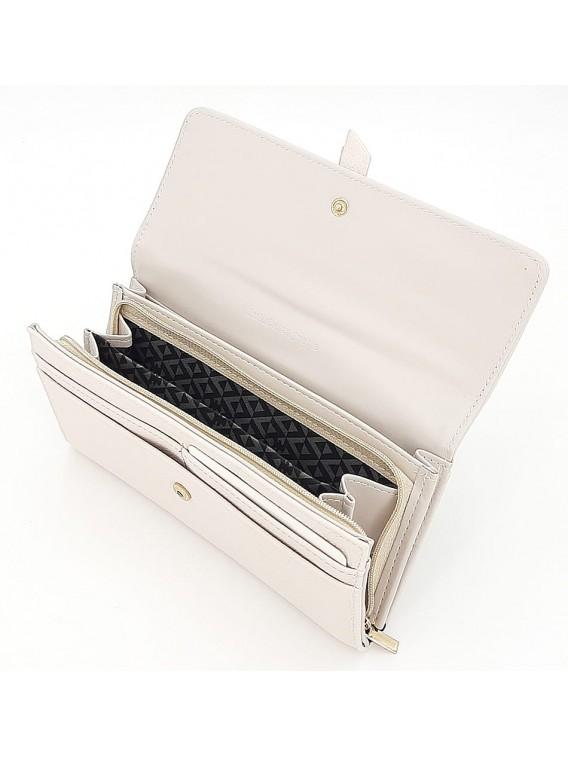 Jasnoszary portfel damski z klapką LULU CASTAGNETTE