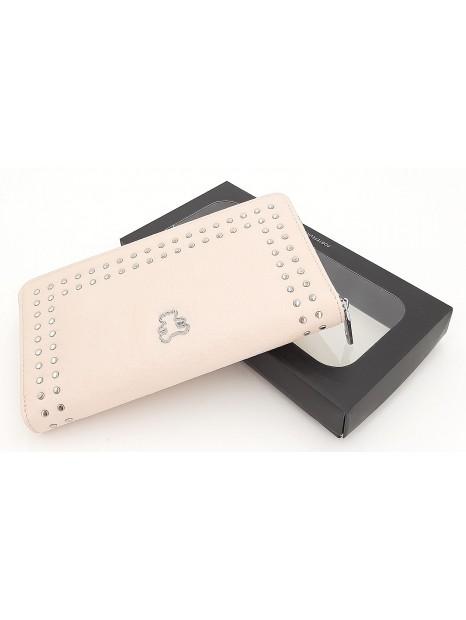 Różowy portfel damski piórnik LULU CASTAGNETTE