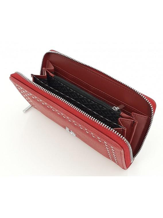 Bordowy portfel damski piórnik LULU CASTAGNETTE