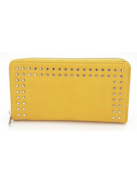 Żółty portfel damski piórnik LULU CASTAGNETTE