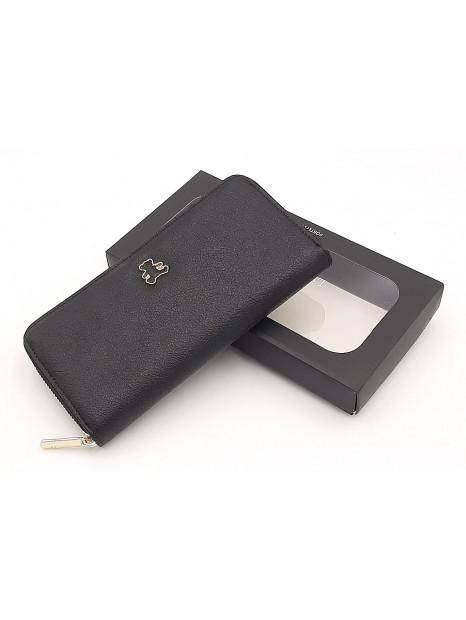 Czarny portfel damski piórnik LULU CASTAGNETTE