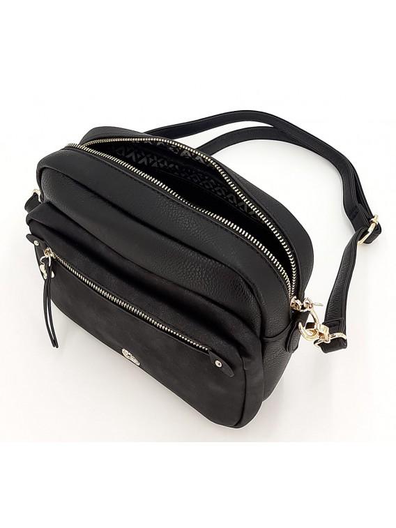 Czarna torebka listonoszka LULU CASTAGNETTE
