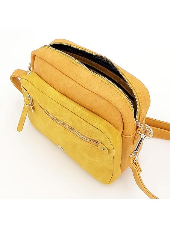 Żółta torebka listonoszka LULU CASTAGNETTE