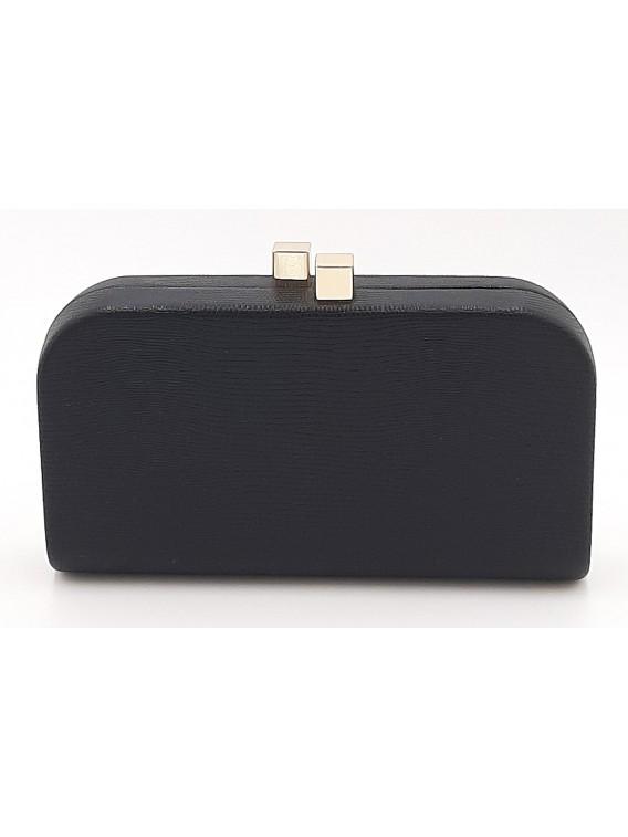 Czarna kopertówka torebka wizytowa TOM&EVA