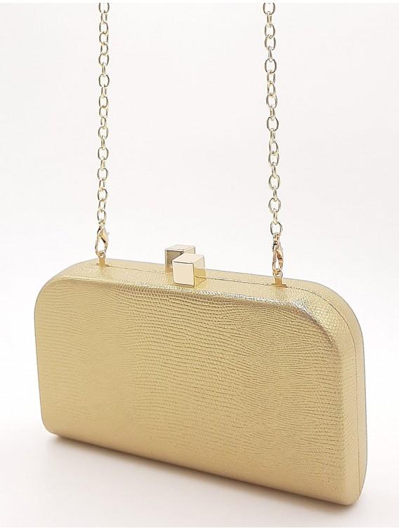 Złota kopertówka torebka wizytowa TOM&EVA