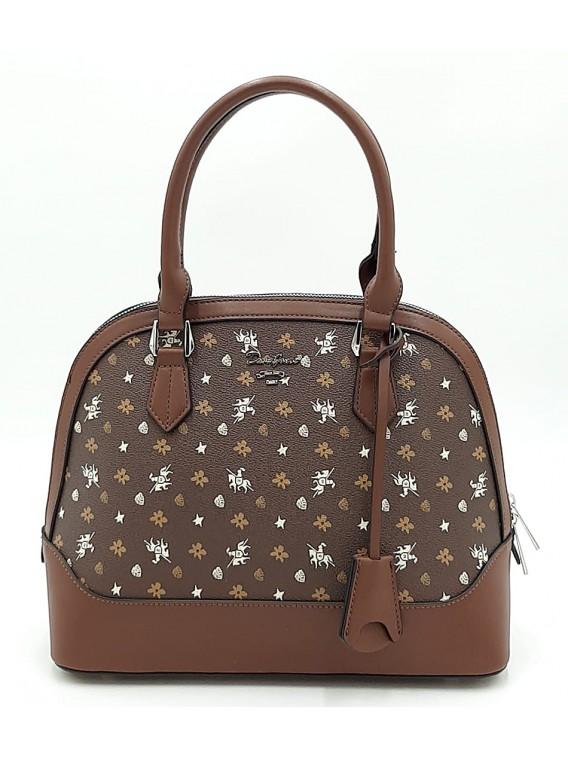 Brązowy kuferek damski DAVID JONES