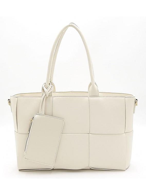 Beżowa klasyczna torebka damska Gallantry