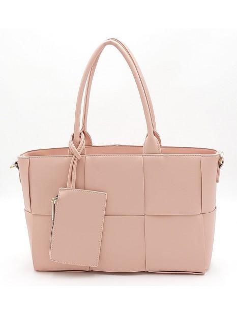 Różowa klasyczna torebka damska Gallantry